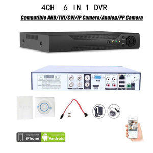 Quanmin 4Ch H.264 Hdmi Hybrid 6 In 1 Dvr 960H Analog Dvr+1080N Ahd Dvr+1080P Onvif Ip Camera Nvr+Tvi Dvr+Cvi Dvr+Pixelplus Dvr Realtime Remote View Surveillance Security System Digital Video Recorder price in nepal