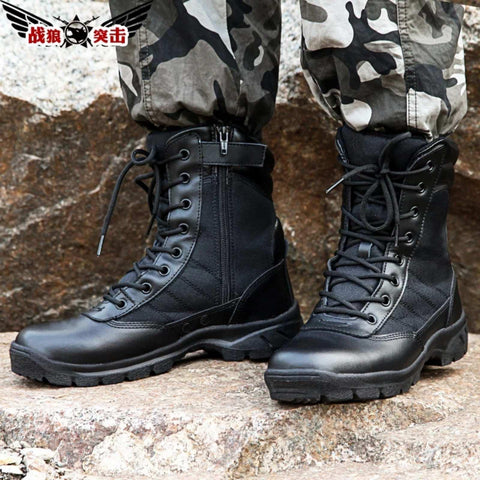 Leather Men Fashion Knee High Boots (Sw-123)
