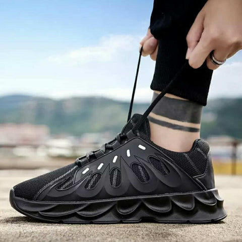 Mesh Breathable Lace-Up Running Shoes For Men -1122 price In Nepal