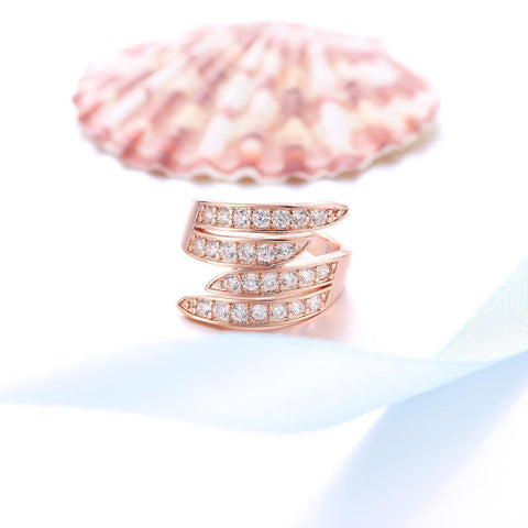 Rose Gold Plated Square Zircon Ring price in Nepal