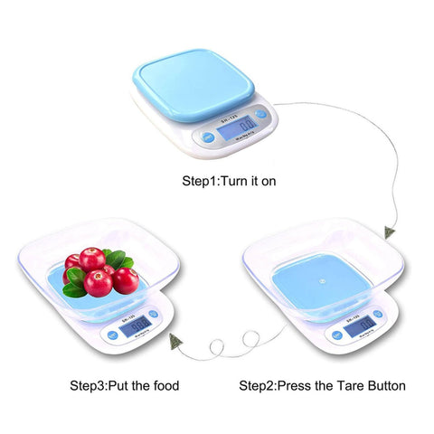 5Kg/1G Electronic Kitchen Scale Digital Food Scale Plastic Weighing Scale Lcd High Precision Measuring Tools / By Shophill price in Nepal
