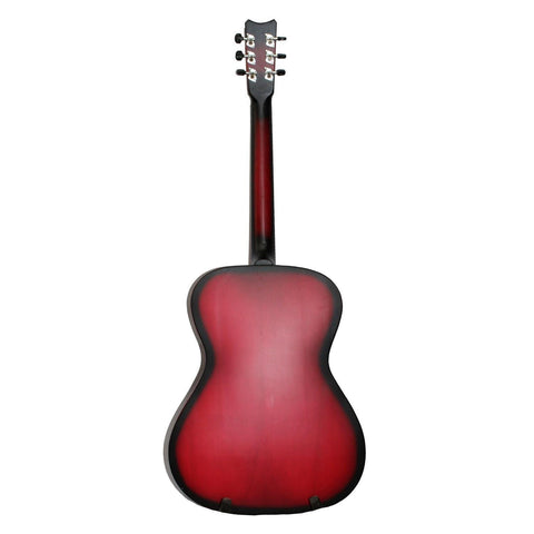 Matte Red Medium Indian Guitar With Free Cover And 2 Picks