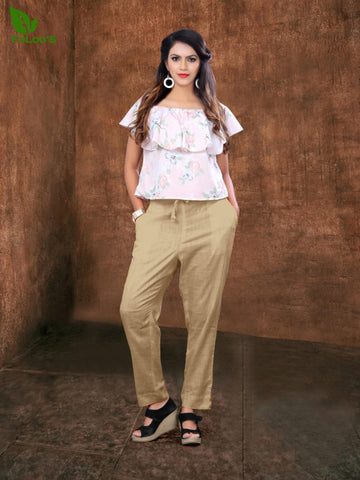 Women Pencil Pant in Cotton slub # 1004