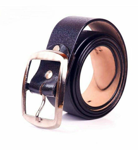 Solid Black Formal And Casual Belt For Men By Arushi