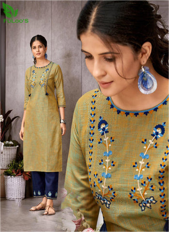 FuLoo's Prestige Pure Cotton Pattern Designer Embroidered Kurti for Women #01 price in nepal