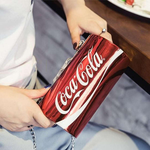 Red Coke Can Clutch Bag For Women