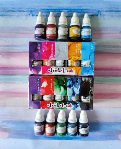 Beyond Inks Alcohol Inks Mini Pack, 10 Colors Each 10ML price in Nepal