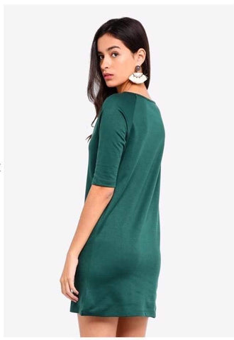 Zalora Basic Elbow Mini Dress