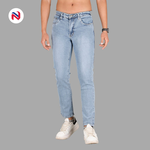 Nyptra Light Blue Stretchable Premium Jeans For Men price in nepal