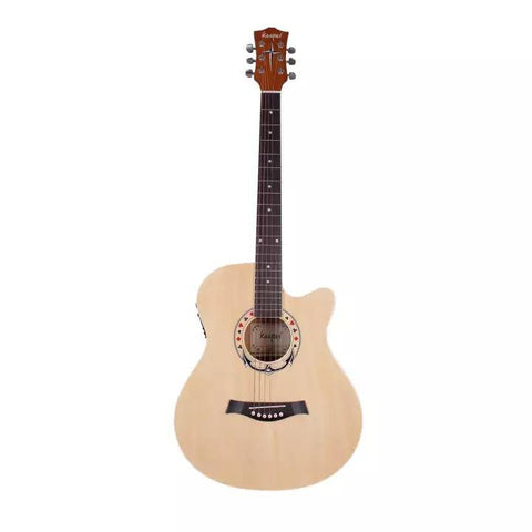 Kaspar 40 Inch Semi Acoustic Guitar With 4 Band Equaliser