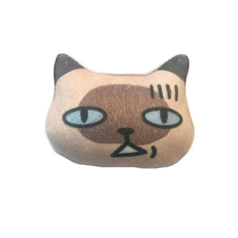 3D Lovely Awkard Cat Emoji Brooch