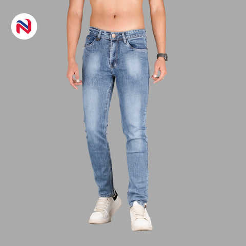Nyptra Blue Blash Stretchable Premium Jeans For Men price in nepal