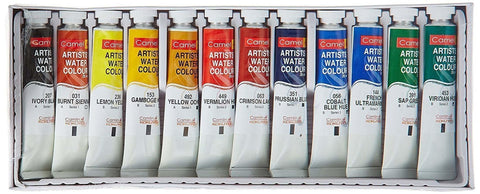 Camel Artist's Watercolor Set, 12 Shades, 20ml Each