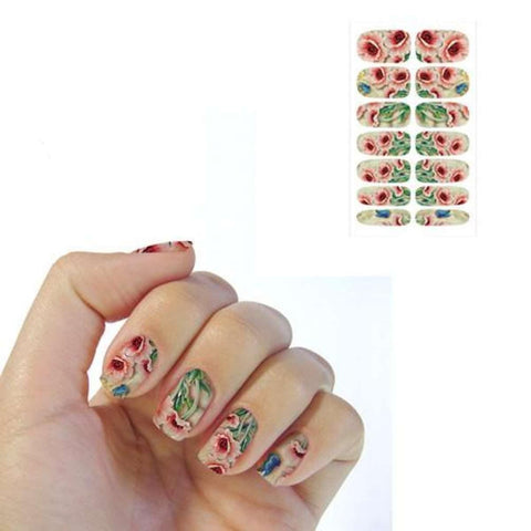Multi-Color Emboss Fantasy Flowers Water Transfer Nails Art Decal price in Nepal