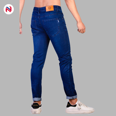 Nyptra Dark Blue Solid Non Stretch Premium Choose Jeans For Men