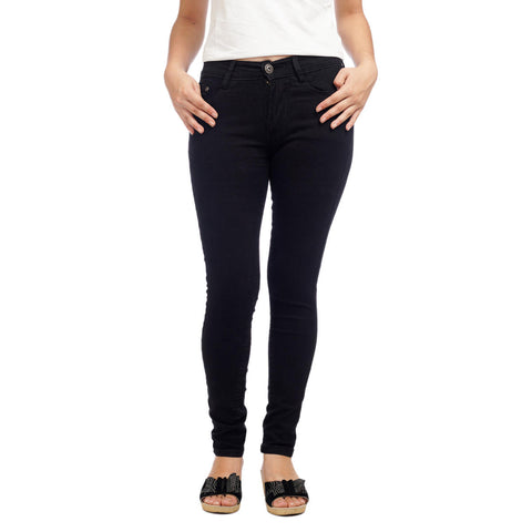 Women's High Waist Black Skinny Fit Denim Pants by Attire Nepal price in nepal
