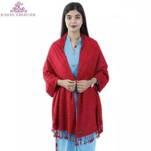 Bisesh Creation Pashmina Plain Solid Shawl For Women price in nepal