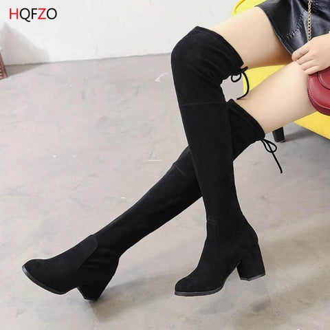 Fabulous Scrub Leather Women Fashion Hoof Heels Boots - ( pep-1)