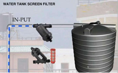 Harit 1 Inch Inlet-Water Tank/Screen Filter - Black price in Nepal