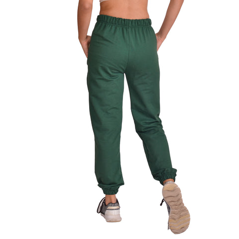 Green Solid Joggers For Women