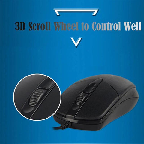 SHIPADOO Optical Mouse Classic Wired USB Mice for PC Computer/ Laptop/ Desktop