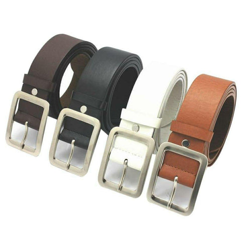 Set Of 4 Adult Men's Casual Faux Leather Belt Buckle Fashion Men Business Waist Strap Belts Accessories By Arushi Price in Nepal