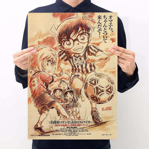 Japan Anime Detective Conan Design Old Style Decorative Poster Print Wall Decor Decals Wall Stickersprice in Nepal