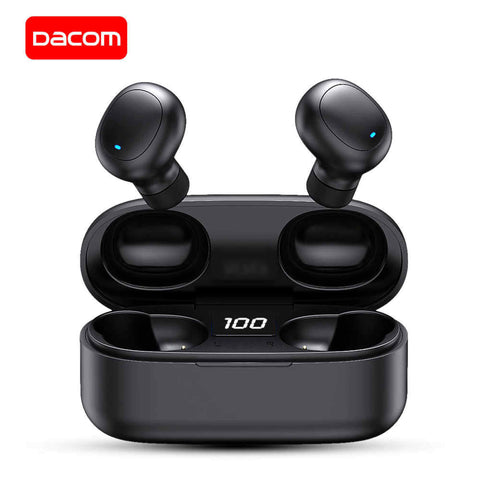 Dacom Original U7 Tws True Wireless Bluetooth Headphones With Led Display - Black price in Nepal