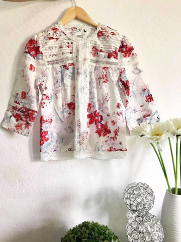 Red Floral Cotton Tops price in nepal