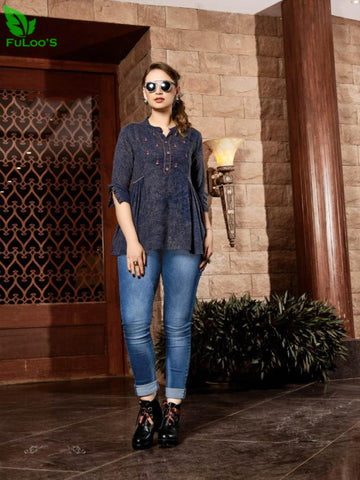 Senorita Rayon Handwork Stylish Short Tops #1006 price in nepal