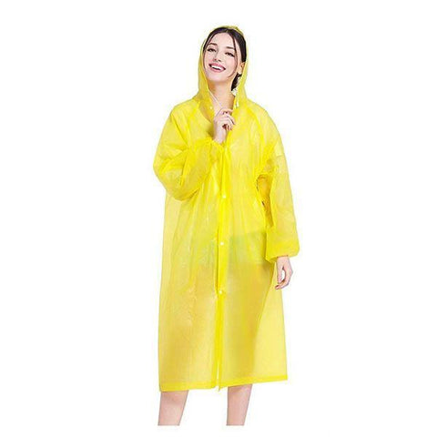 Multicolored Yellow Waterproof Clear PVC Raincoat (Unisex)
