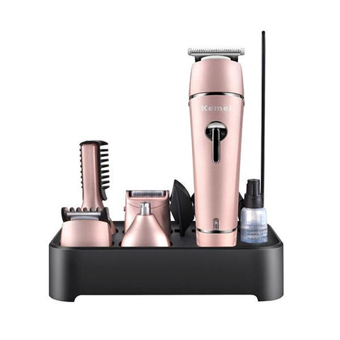 KEMEI KM-1015 Men Grooming Kit 10 In 1 Beard Trimmer Hair Clipper Nose Trimmer Shaving Kit