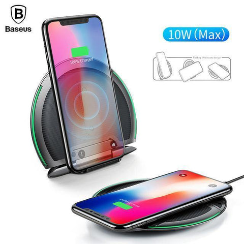 Baseus 10w Qi Wireless Charger Foldable Charging Pad