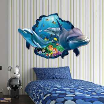 Animated Sea World 3D Decor Wall Stickers (mws-9215)