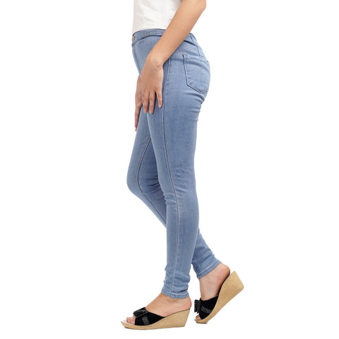 Skinny Fit High Waist Stretch Denim Pant by Attire Nepal