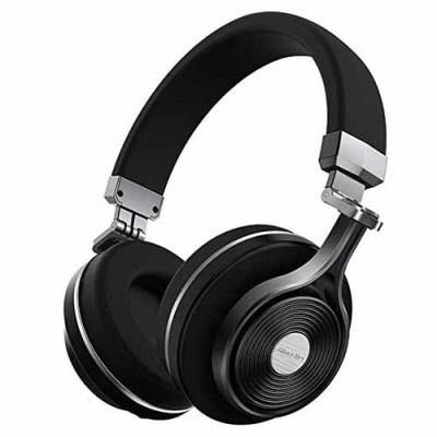 BLUEDIO T2S BLUETOOTH HEADPHONES ON EAR WITH MIC 57MM DRIVER ROTARY FOLDING WIRELESS HEADSET, WIRED AND WIRELESS HEADPHONES