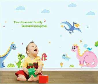 Cute Dinosaur Family Wall Stickers