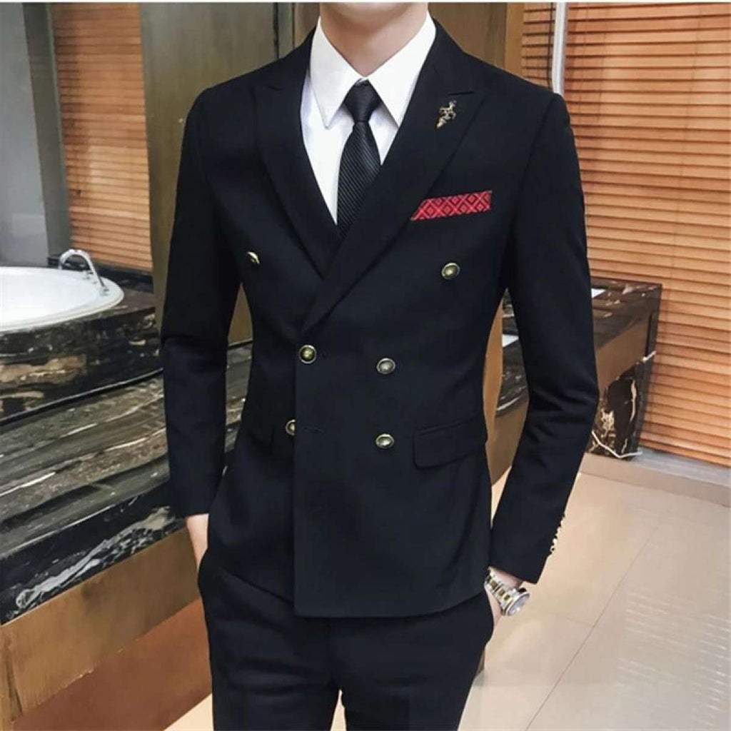 England Style Wind Double Breasted Suit Jackets