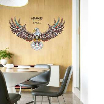 Fearless Eagle Decor Wall Stickers (mws9154)