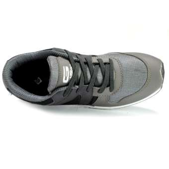 Goldstar Grey/Black Lace-up Sport Shoes For Men