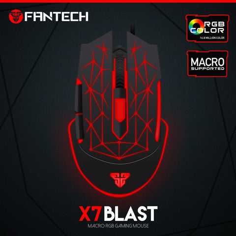 FANTECH HIGH-END RGB COLOR ERGONMIC 4800 DPI PROGRAMMABLE 6D OPTICAL X7 BLAST GAMING MOUSE  price in nepal