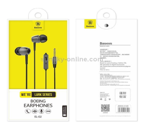 Baseus Lark Series Boeing Earphone 1.2m In-ear Stereo Bass