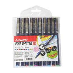 Luxor Fine Writer Pen - Multicolor 10 Pcs (942)