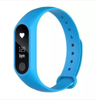 M2 Smart Band With Heart Rate Sensor- Blue
