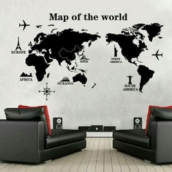 Map Of The World Wall Decals