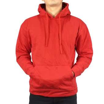 Men Plain Winter Hoodie (Red)