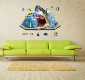 Mighty Shark Rules Decorative Wall Decal