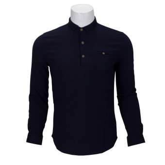 Navy Blue 3 Buttoned Shirt For Men