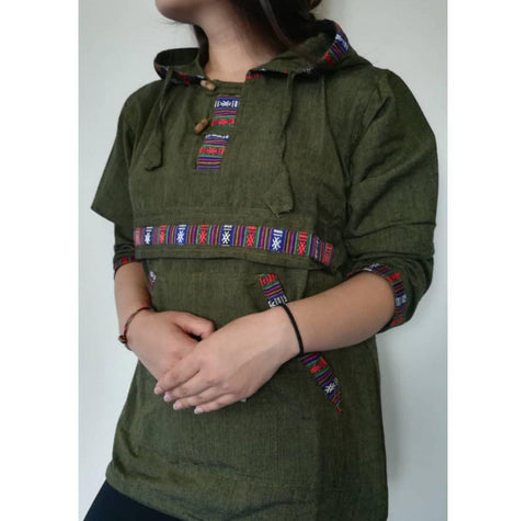Green  Bhutani hoodies For Women