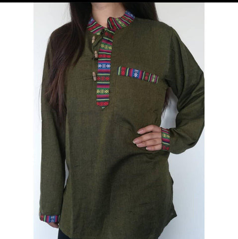 Green Bhutani Kurta Shirt For Women